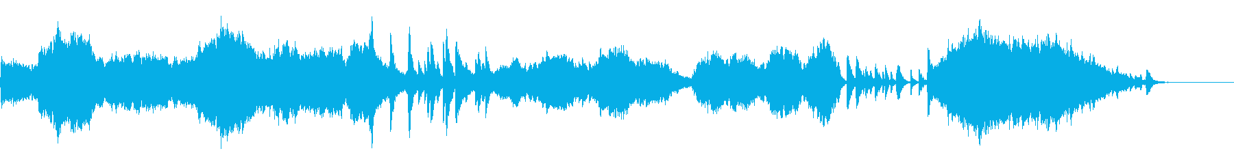 ピアノとストリングスが美しい和風劇伴曲の再生済みの波形