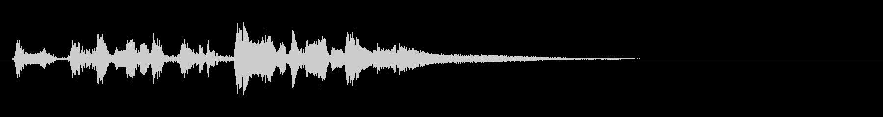 ヨーロッパ風ジプシーバイオリンジングルの未再生の波形