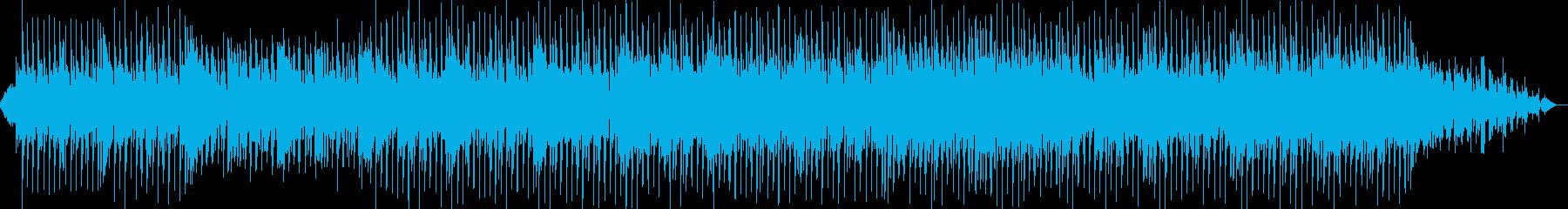 優しく爽やかな感じのポップス曲の再生済みの波形