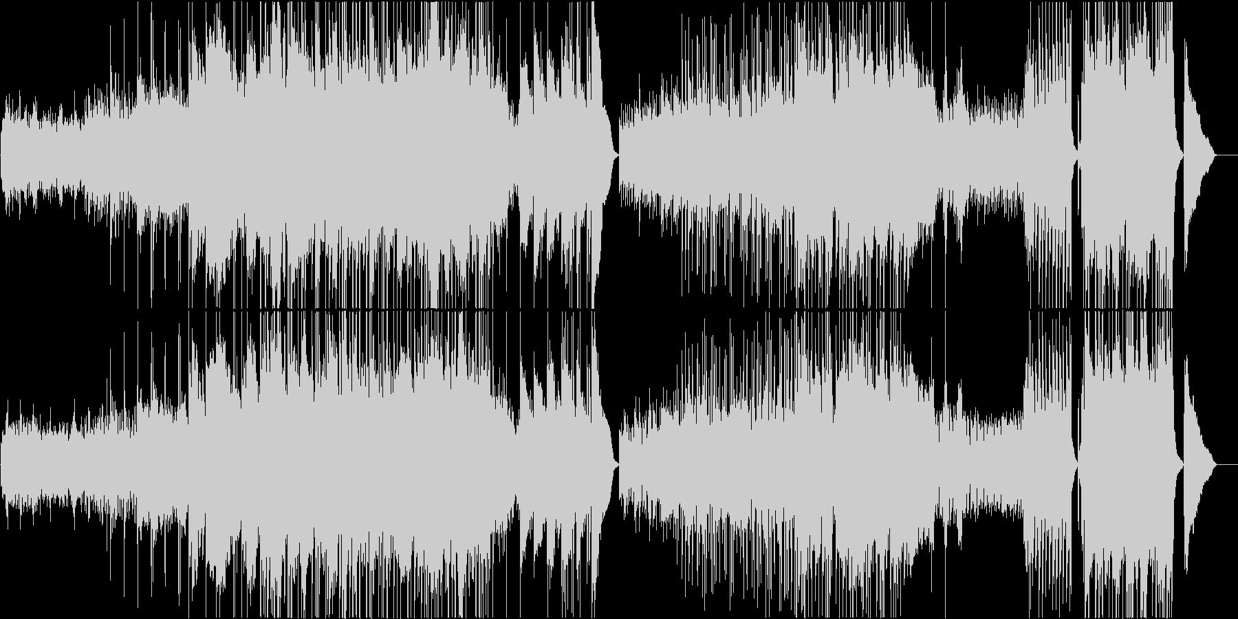 バッハ・無伴奏チェロ組曲ポップスアレンジの未再生の波形
