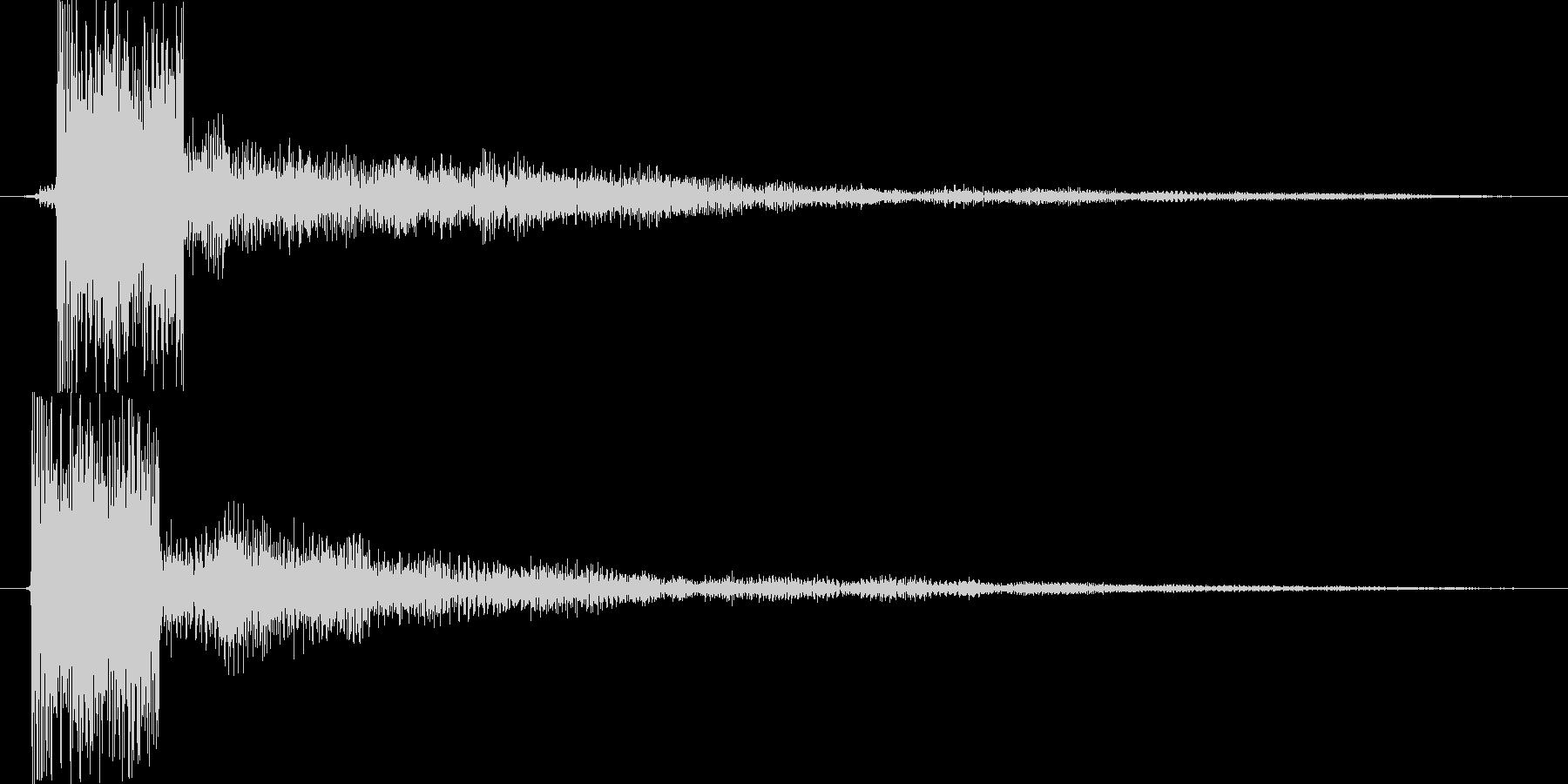 ピ(近未来的な決定音)の未再生の波形