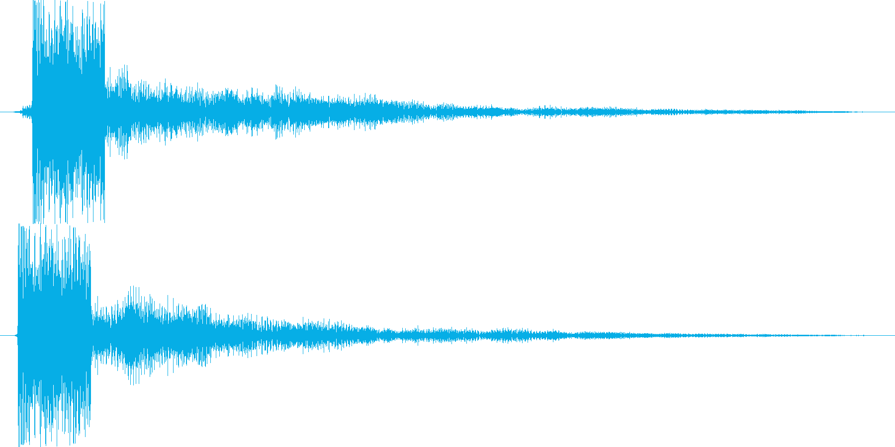 ピ(近未来的な決定音)の再生済みの波形