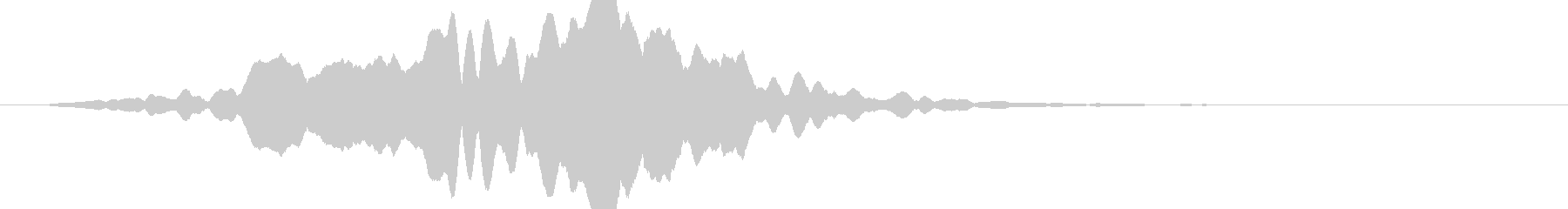 キューンと眩しい光が広がるの未再生の波形