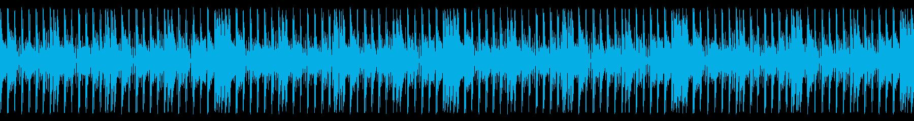 ポップでアクティブなジングル_ループの再生済みの波形