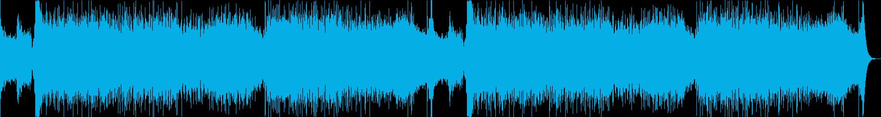 スピード感のある激しいロック/ボス戦闘曲の再生済みの波形