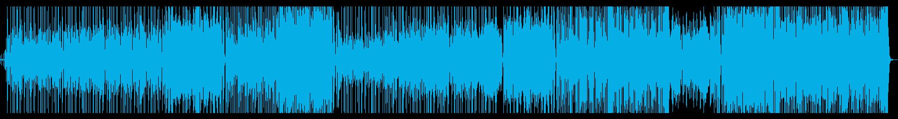 ジャジーに「足音」を表現したGtインストの再生済みの波形