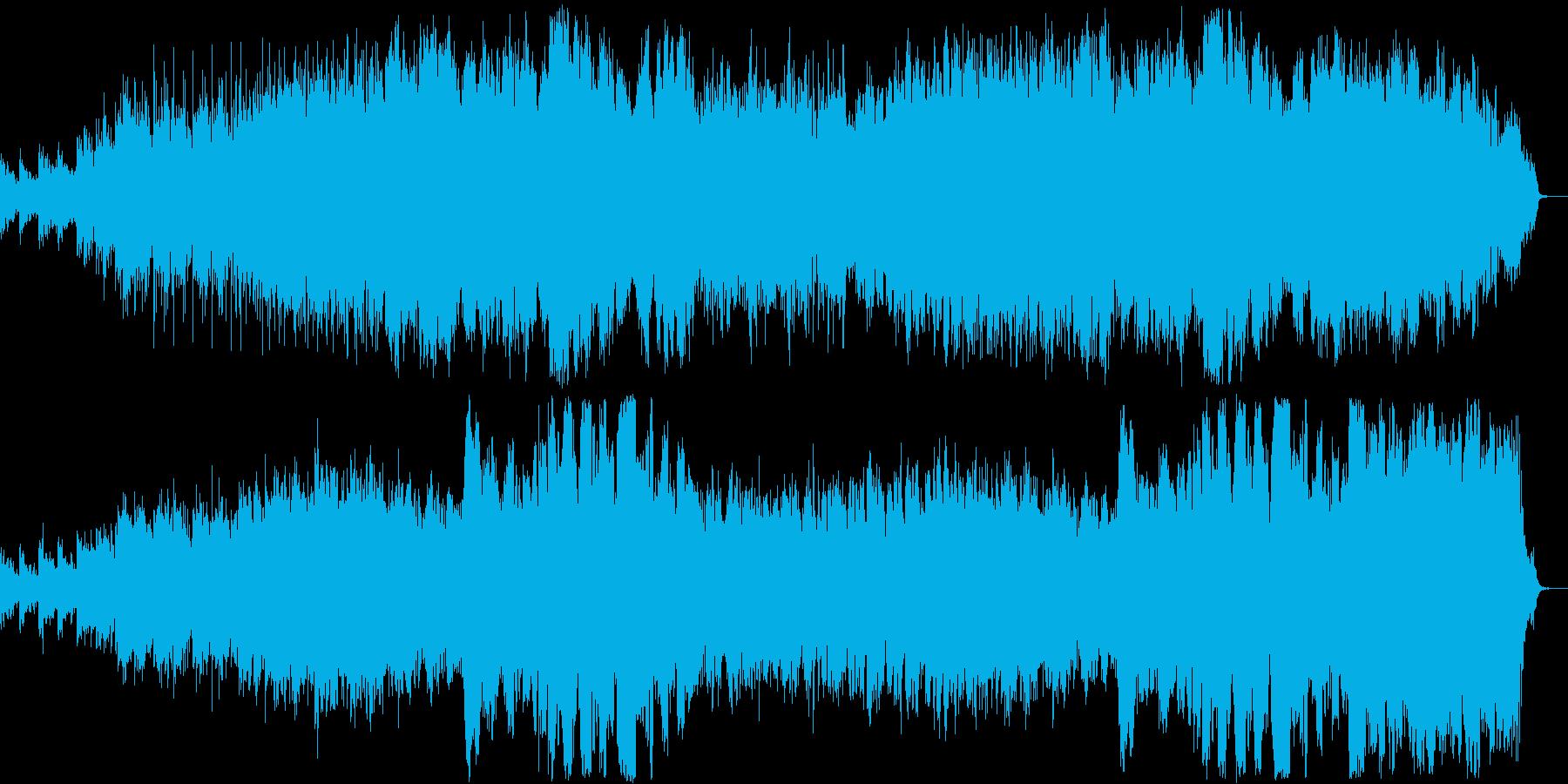 海の中をもぐって泳いでいるような音楽の再生済みの波形