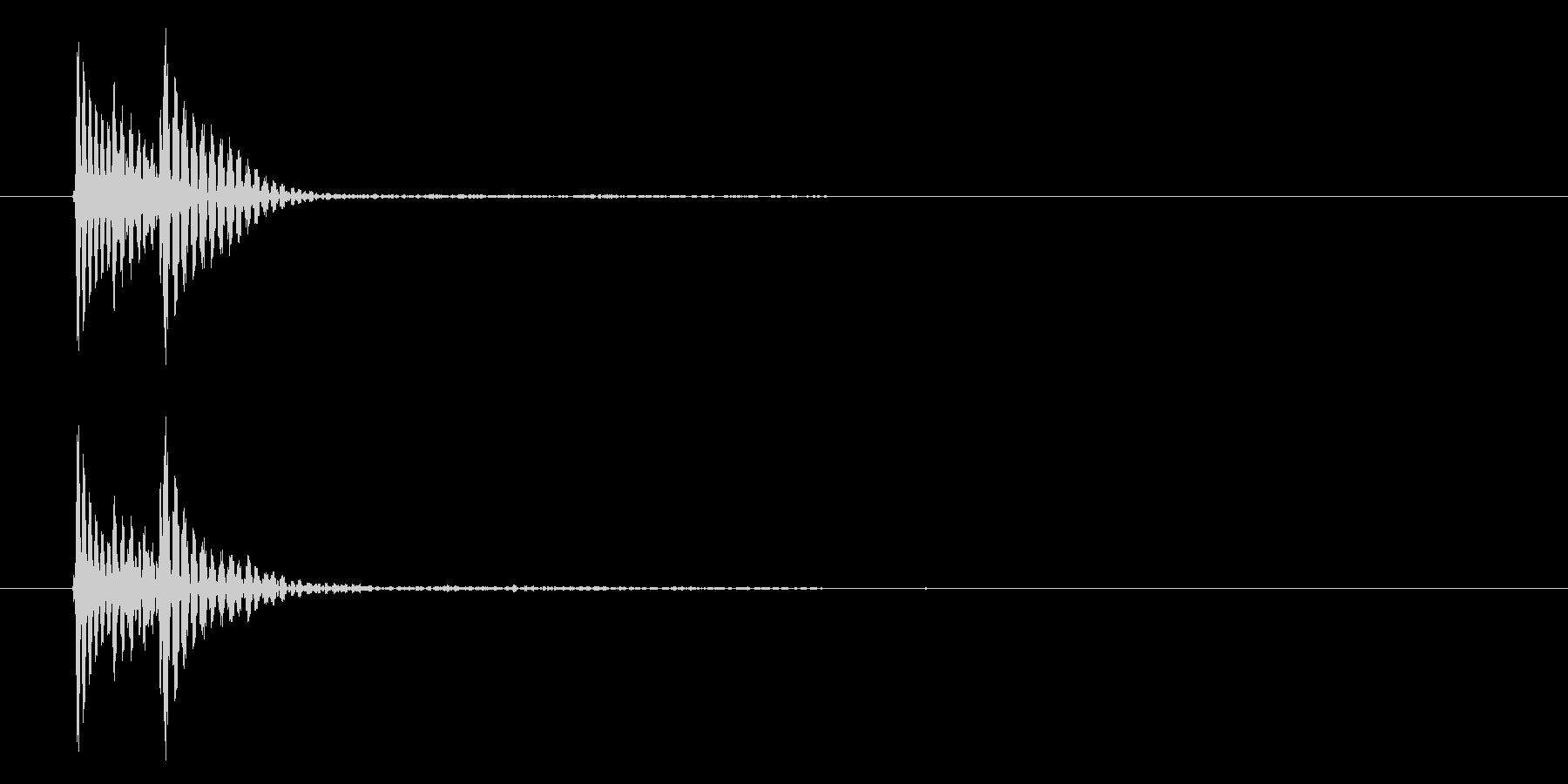 ポロン①(キャンセル・システム音・選択)の未再生の波形