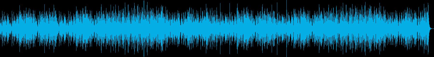 軽快なマリンバ、早送り動画の再生済みの波形