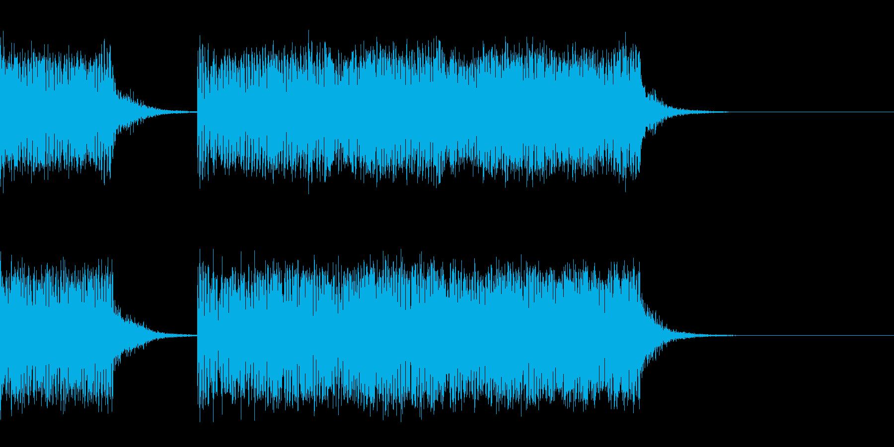 スパーク音-05の再生済みの波形