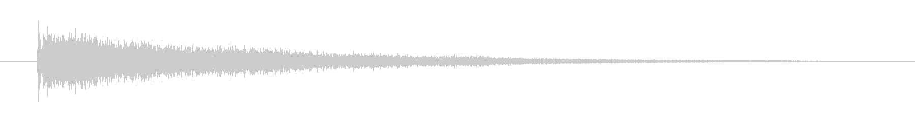 「ジャーン」というシンバルの音の未再生の波形