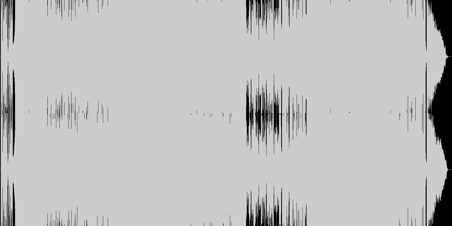 疾走感のあるガールズロック(3分verの未再生の波形