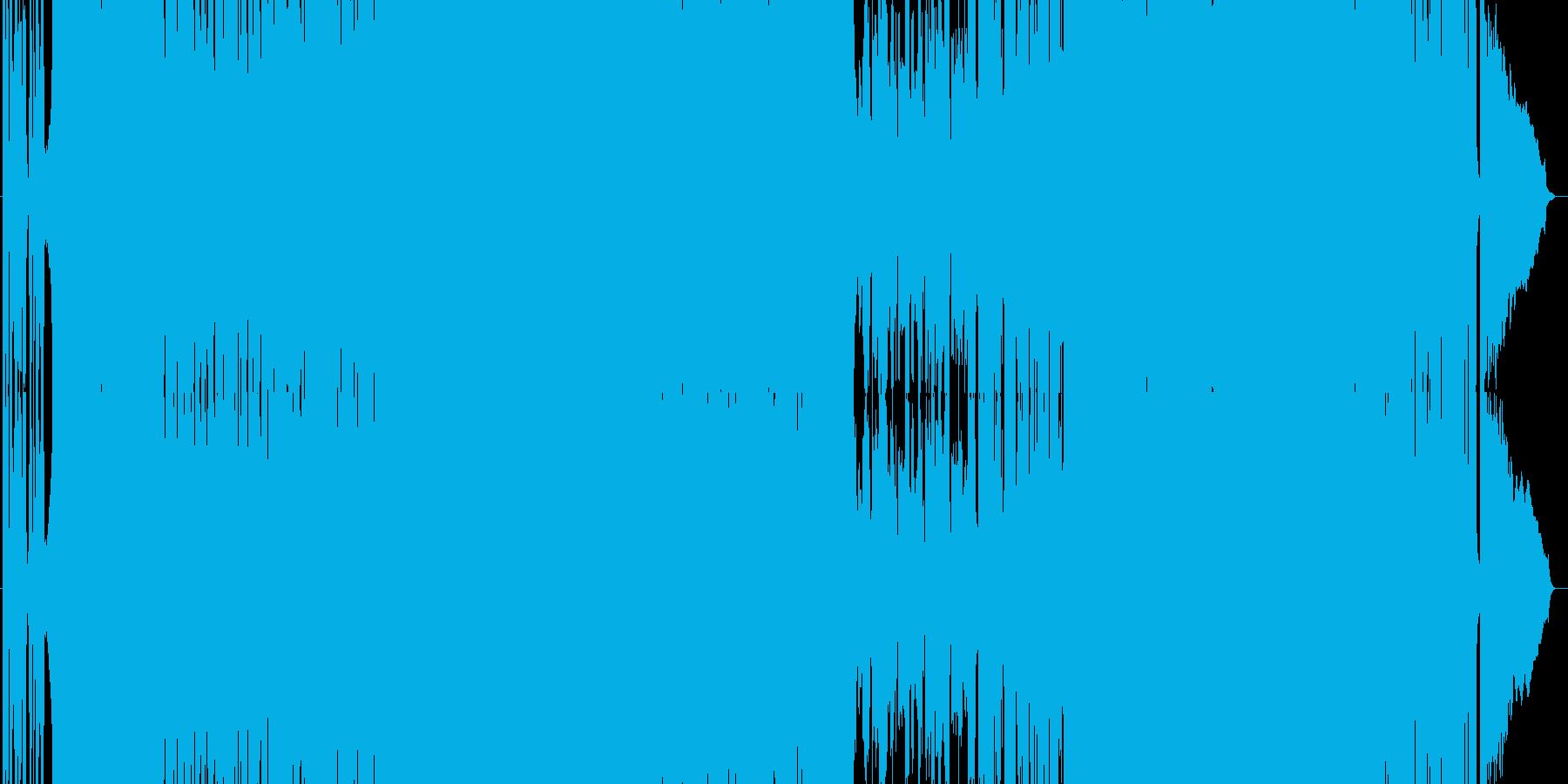 疾走感のあるガールズロック(3分verの再生済みの波形