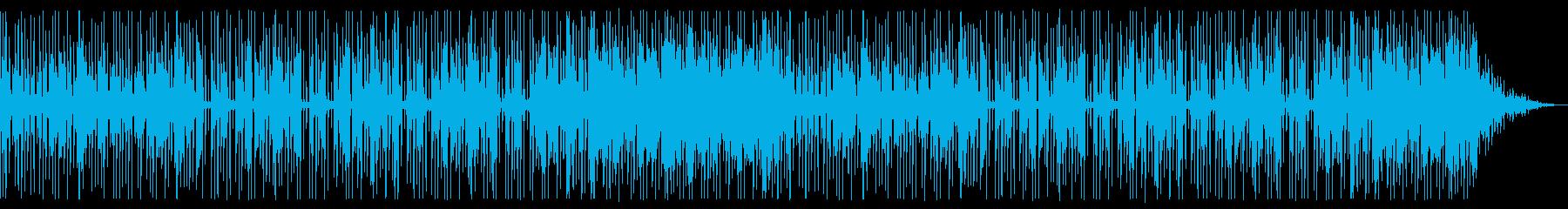 ミニマムなローファイビート楽曲の再生済みの波形
