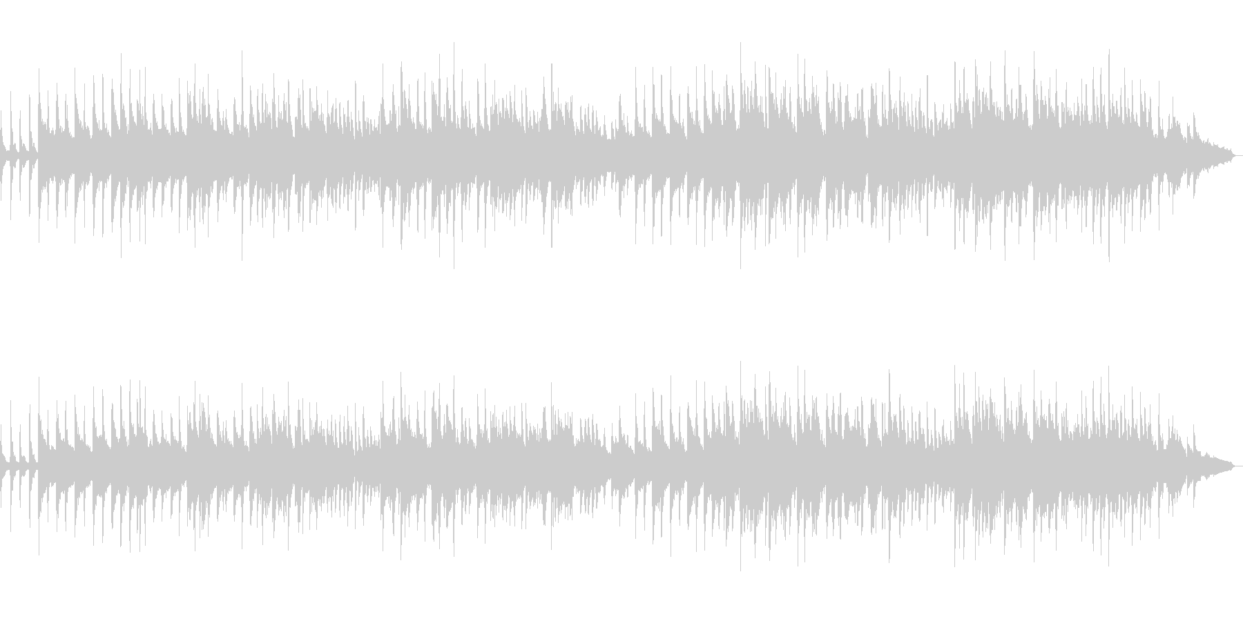 ガーシュウィンのサマータイムをピアノでの未再生の波形