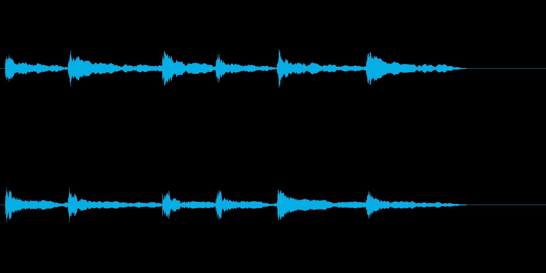 オリジナルの効果音の再生済みの波形