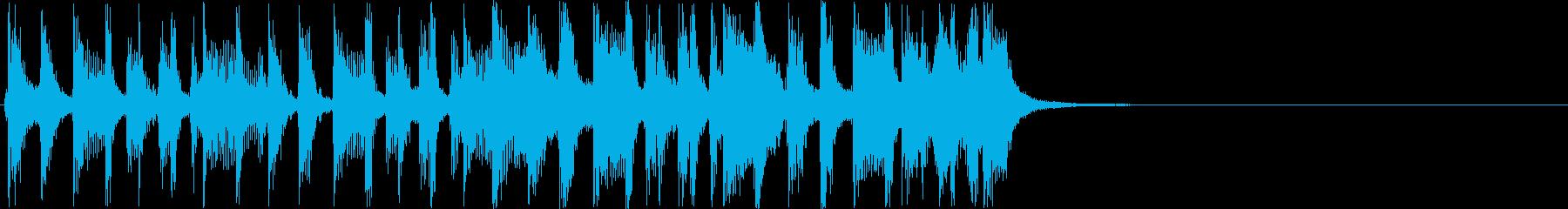 アコースティクバンド元気で明るいジングルの再生済みの波形