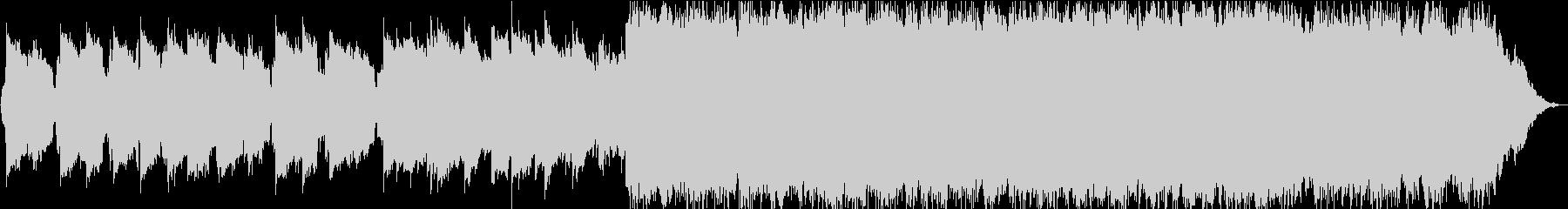 透明感のある静かな笛のヒーリング音楽の未再生の波形