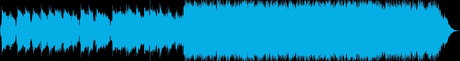 透明感のある静かな笛のヒーリング音楽の再生済みの波形