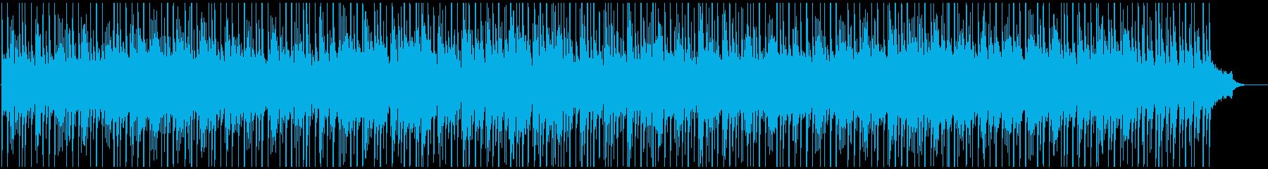 爽やかで前向きな感じの曲の再生済みの波形