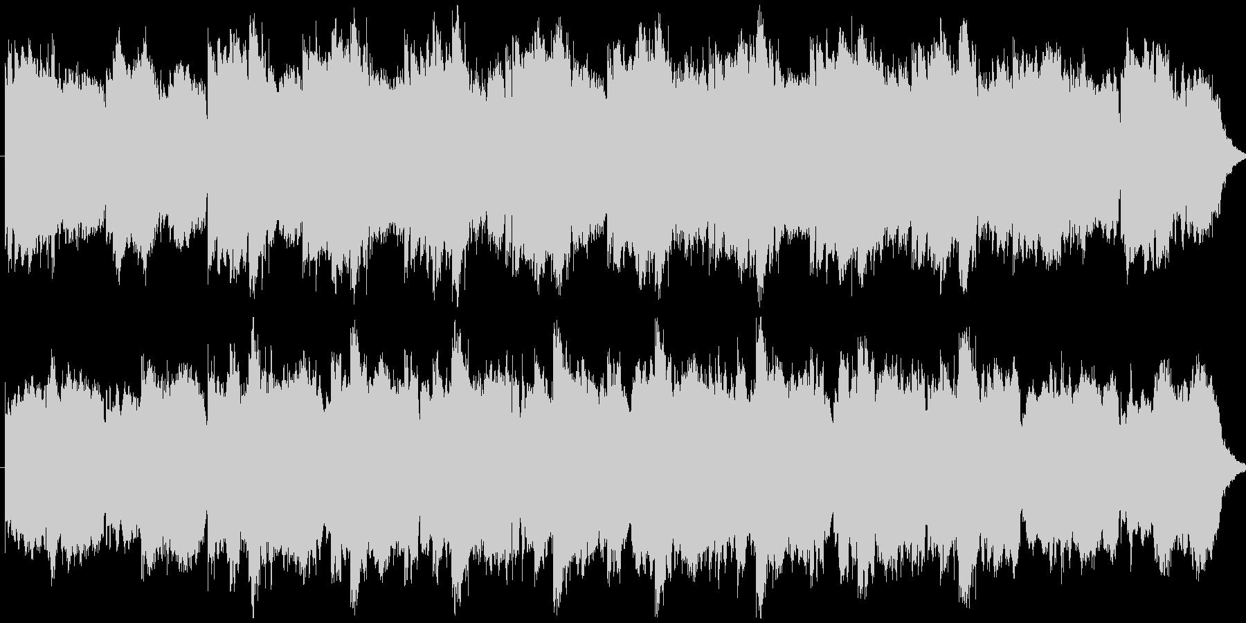 シンセ音のミニマルなBGMの未再生の波形