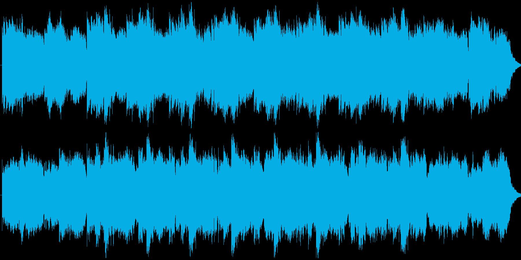 シンセ音のミニマルなBGMの再生済みの波形