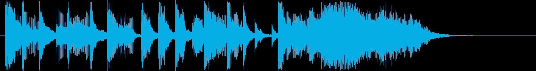 はっきりと強いトーンのショートソングの再生済みの波形