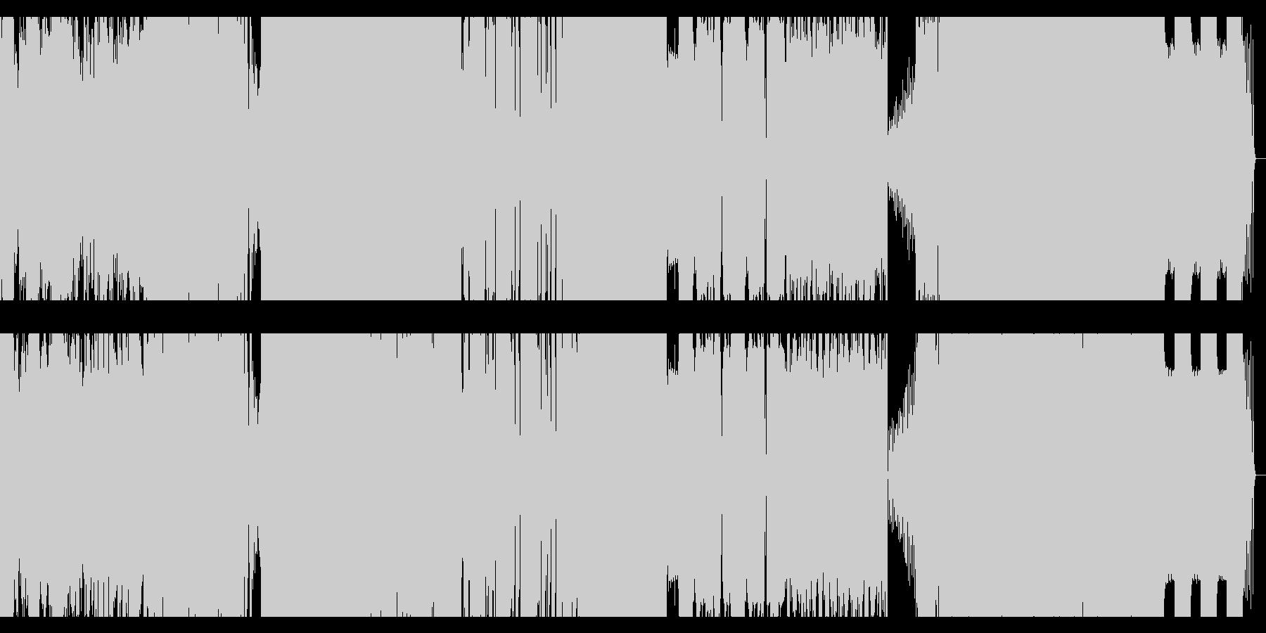 dubstep +ラウドロックの未再生の波形