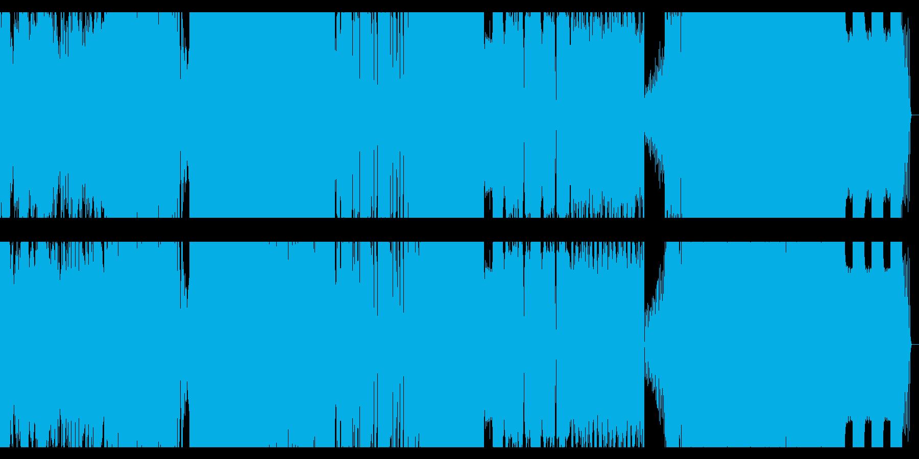 dubstep +ラウドロックの再生済みの波形