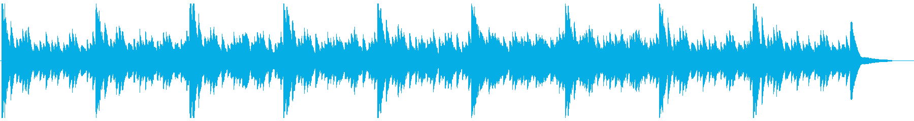 ゆっくり滑らかな新しさのあるピアノの曲の再生済みの波形