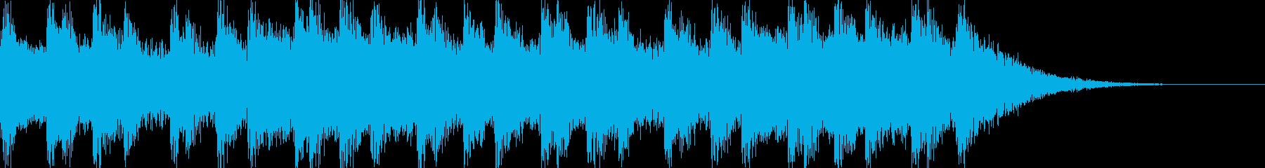 おしゃれかわいい幻想的ジングル・溶けるの再生済みの波形