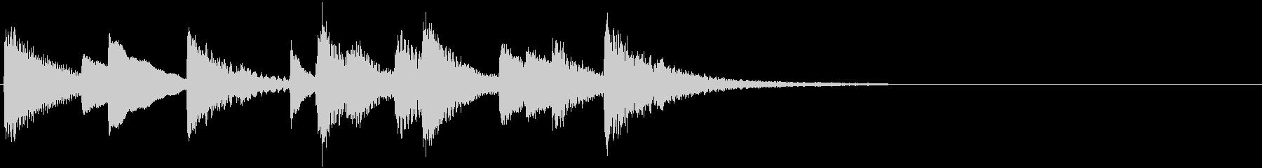 大人っぽい艶やかなピアノBGMの未再生の波形