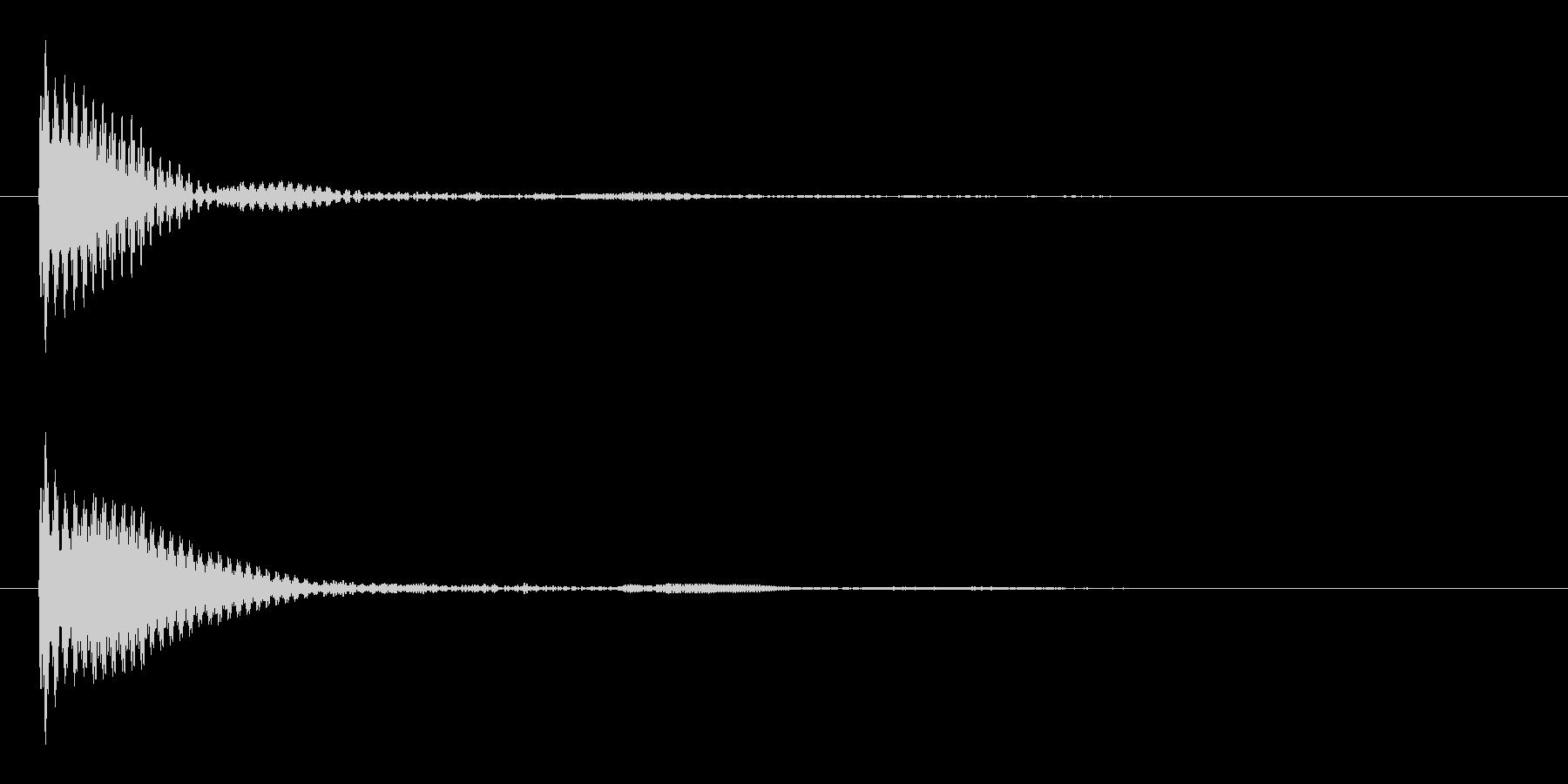 ポン カーソル音 タップ音 C#-02の未再生の波形