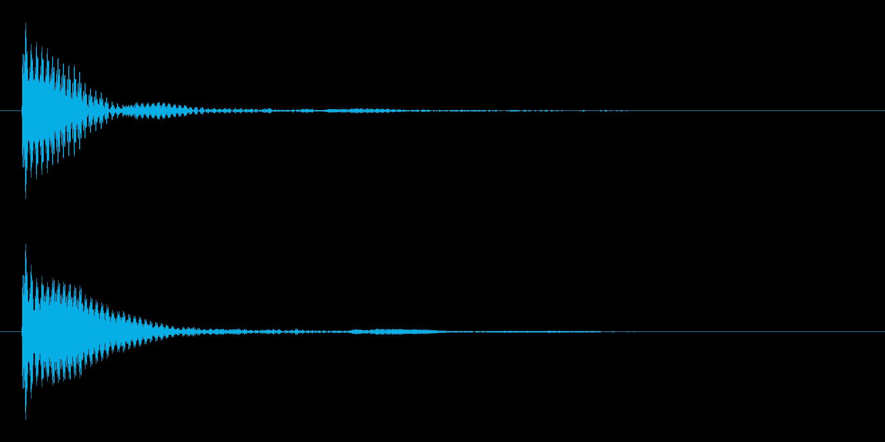 ポン カーソル音 タップ音 C#-02の再生済みの波形