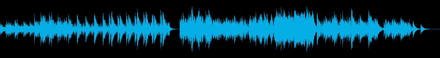 氷の迷宮をさまようピアノのヒップホップの再生済みの波形