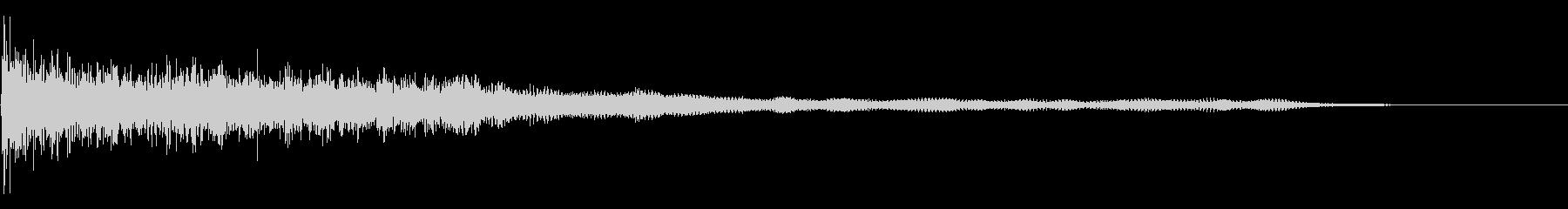 開始タグの未再生の波形