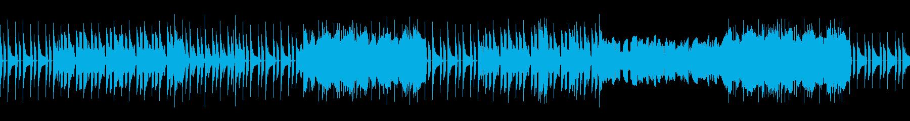 ほのぼのとした木管楽器曲(ループ)の再生済みの波形