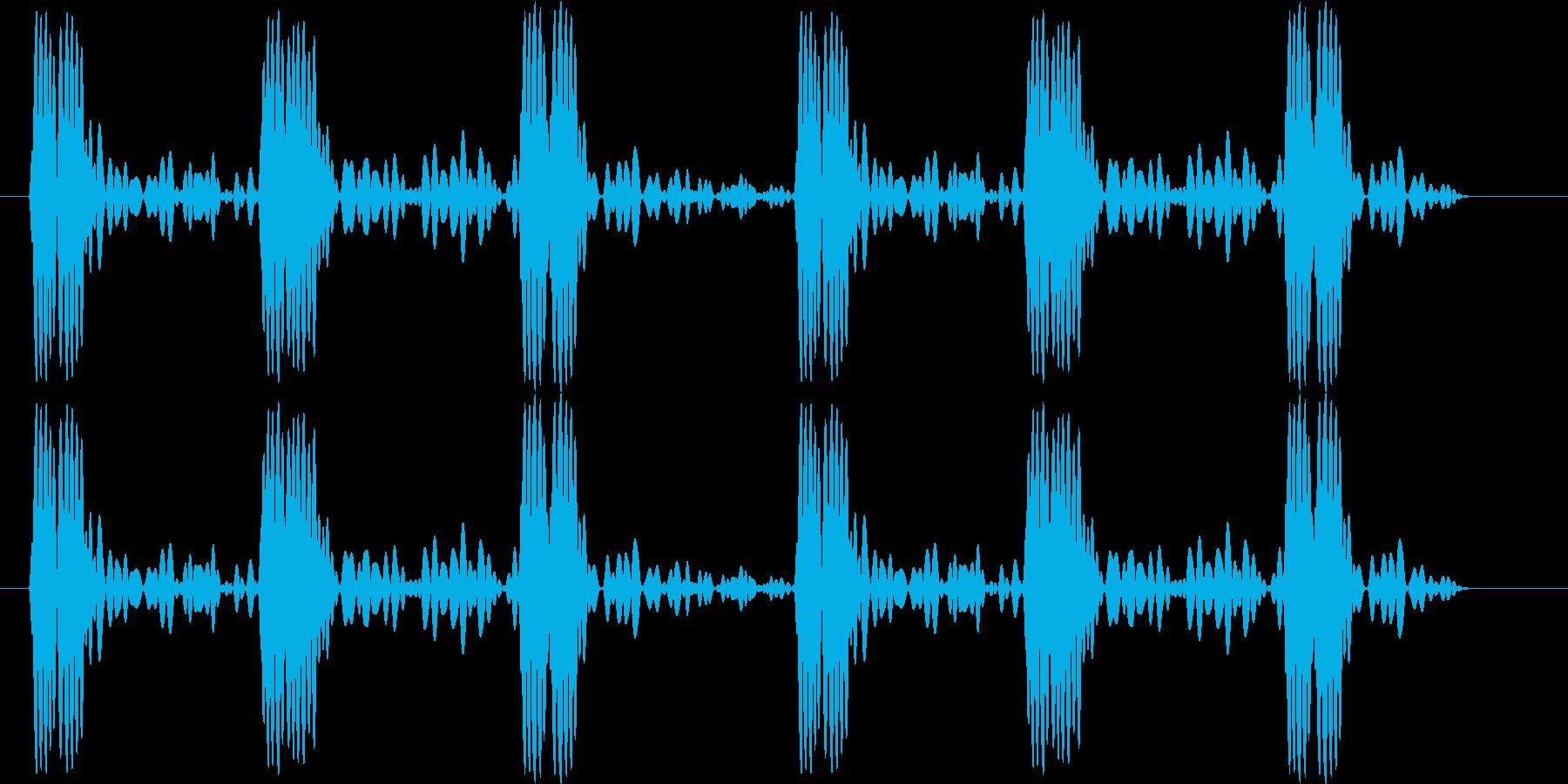 心音の再生済みの波形