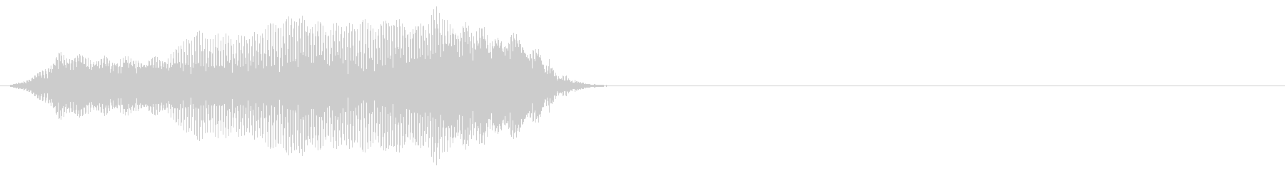 クリーチャー 発声 108の未再生の波形