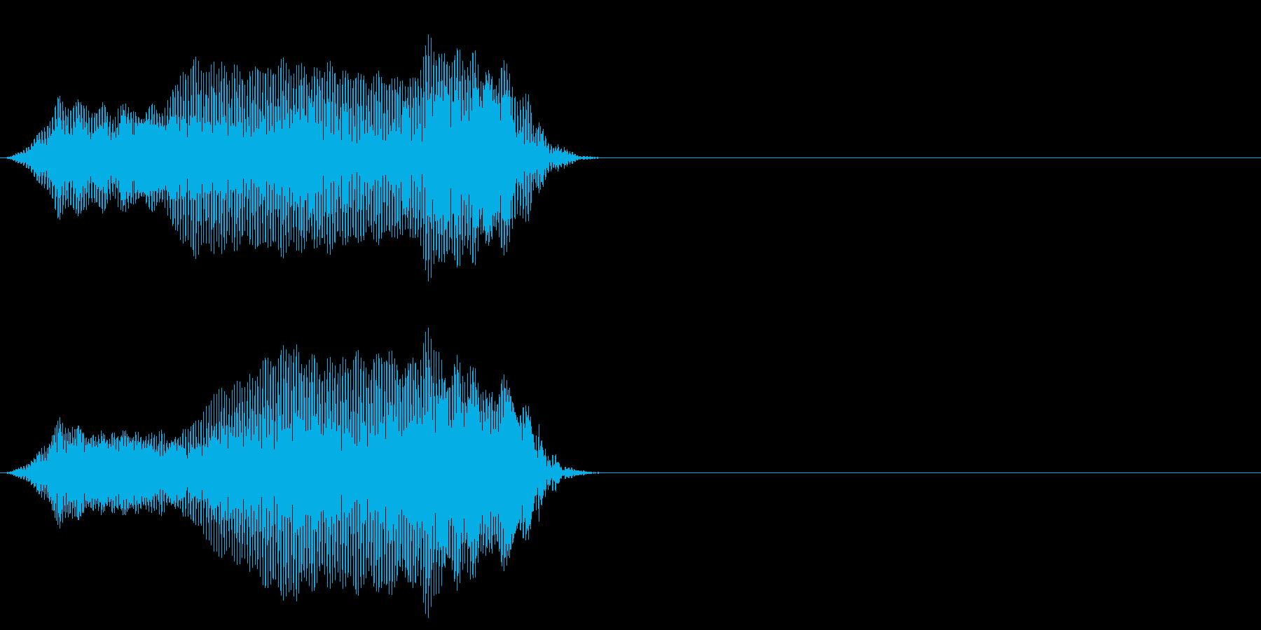 クリーチャー 発声 108の再生済みの波形