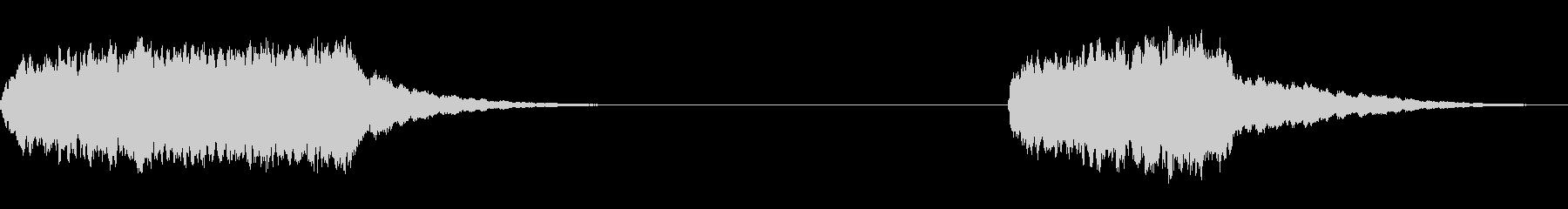 電話リング、2つのバージョン。 D...の未再生の波形