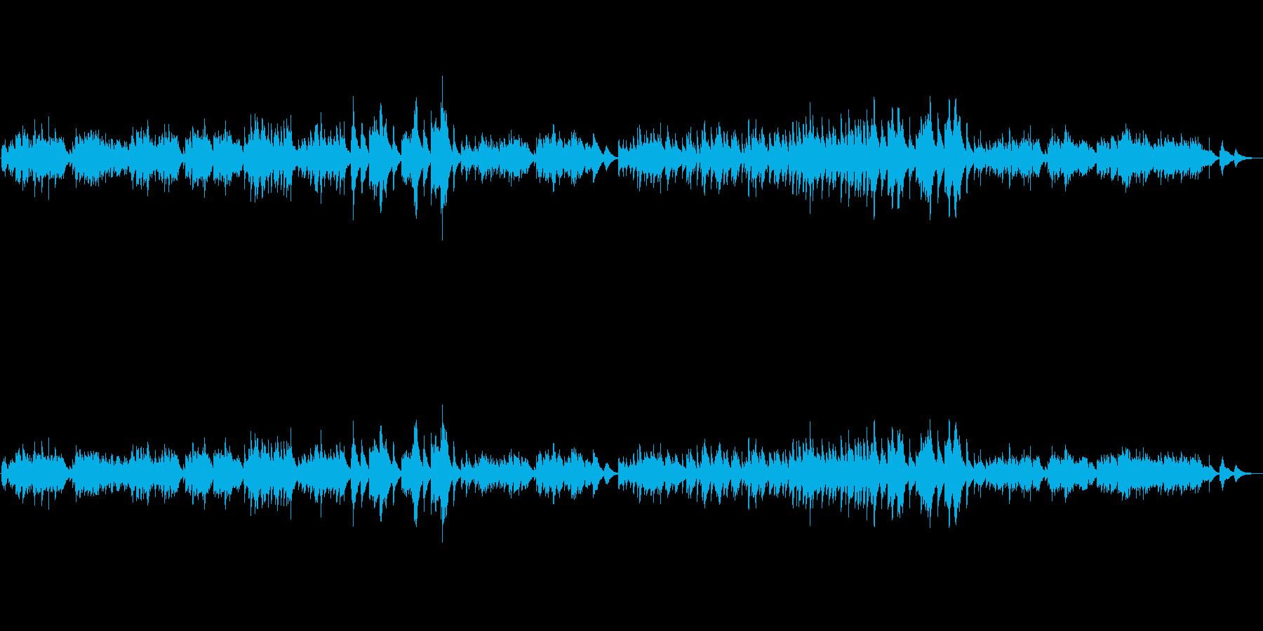 おしゃれなハープソロ『シシリエンヌ』の再生済みの波形