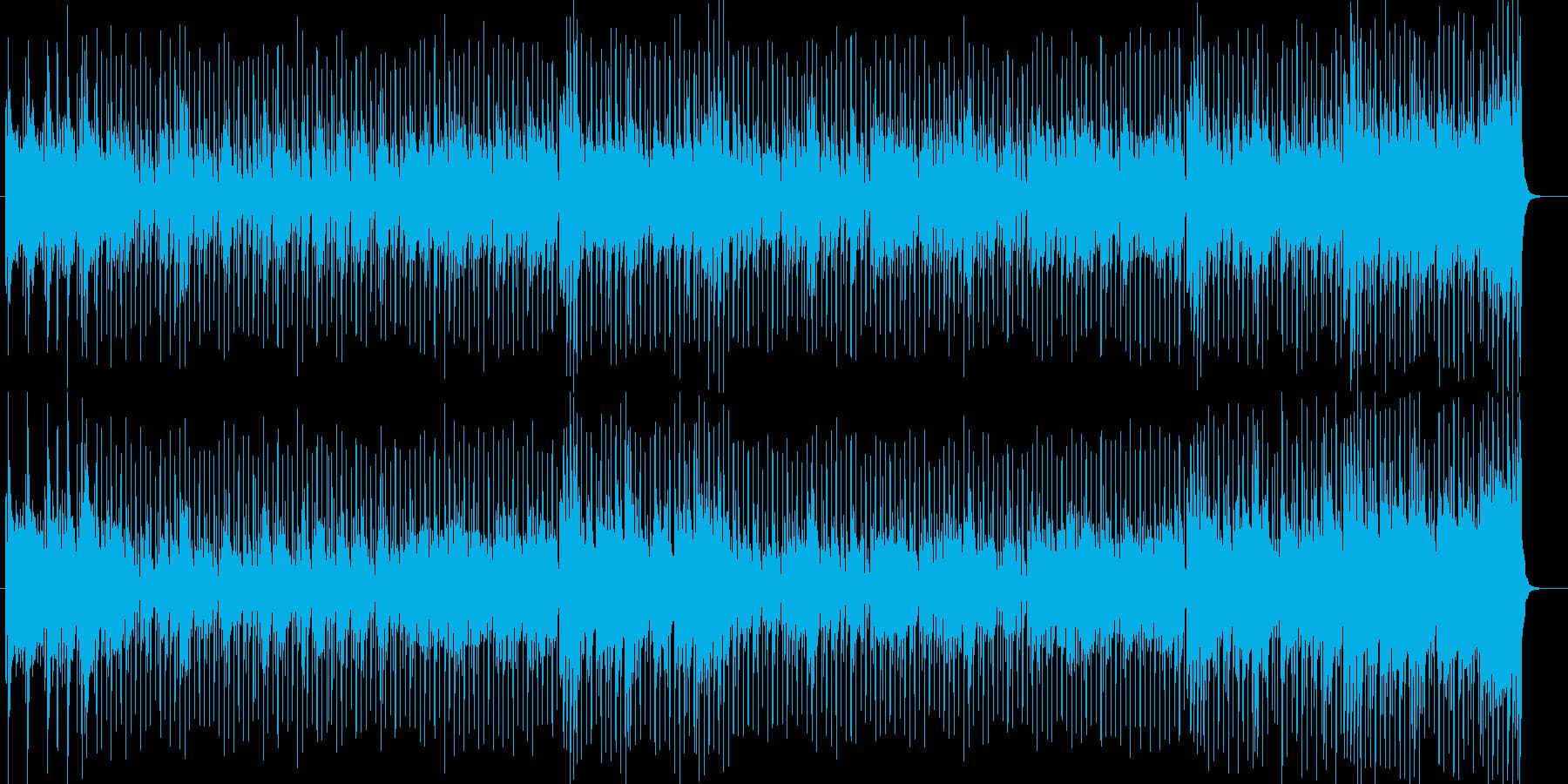 木々の間を駆け抜けるようなポップスの再生済みの波形
