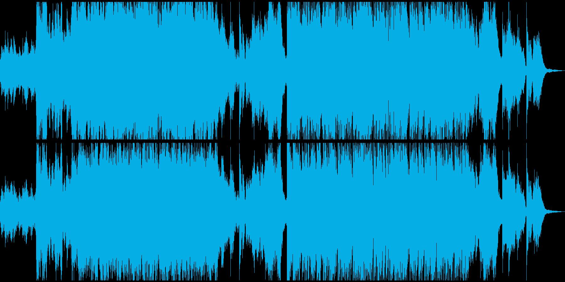 生命の誕生、生をイメージしたサウンドの再生済みの波形