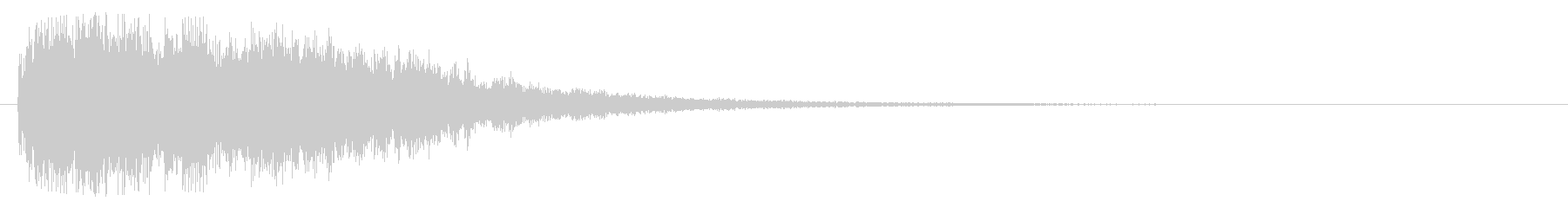 キラリーン(課題クリア)の未再生の波形