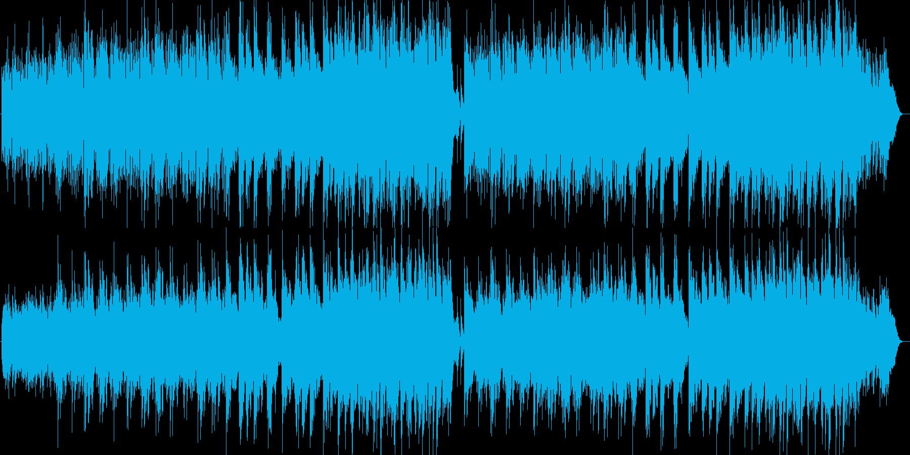 優しく美しいシンセサイザーサウンドの再生済みの波形