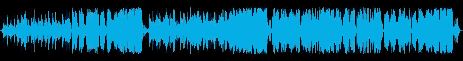 コミカルなワルツのオーケストラループの再生済みの波形