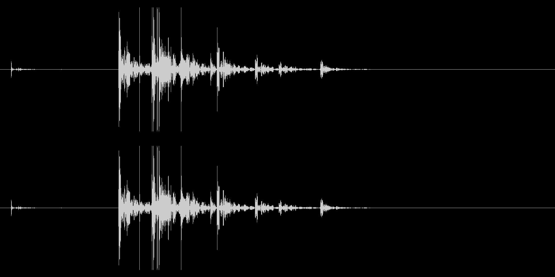 【生録音】サイコロを振る音 2の未再生の波形
