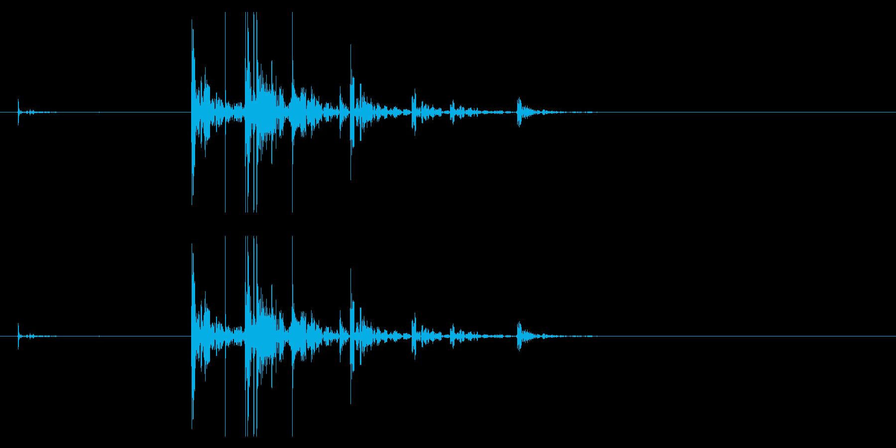 【生録音】サイコロを振る音 2の再生済みの波形