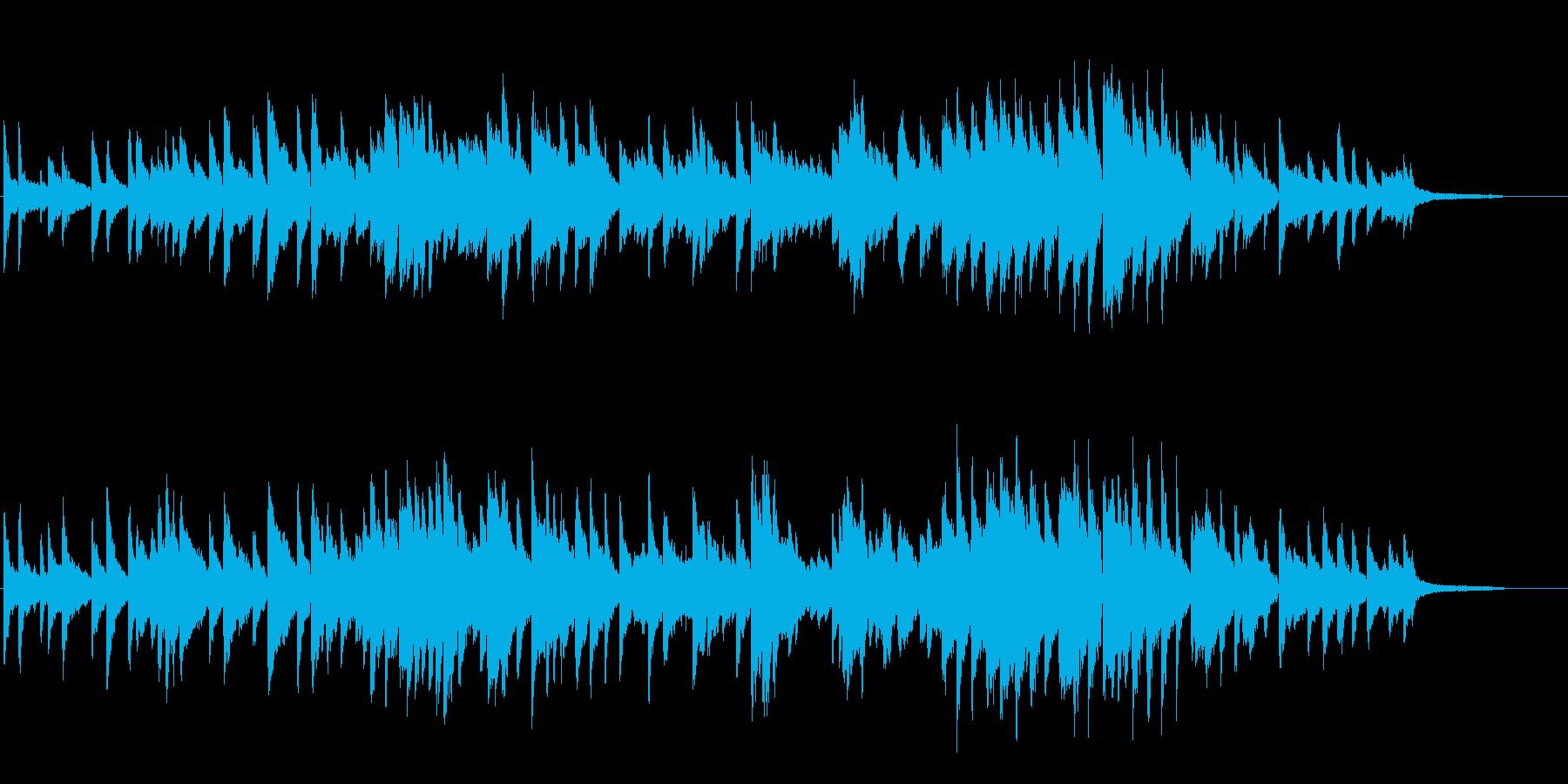 幻想的、和風な雰囲気もあるソロピアノCMの再生済みの波形